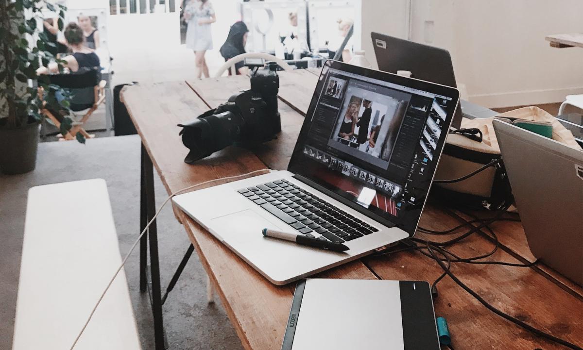 Laptop ready to build a brand identity